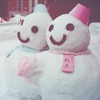 冬天到了,一起来堆雪人。